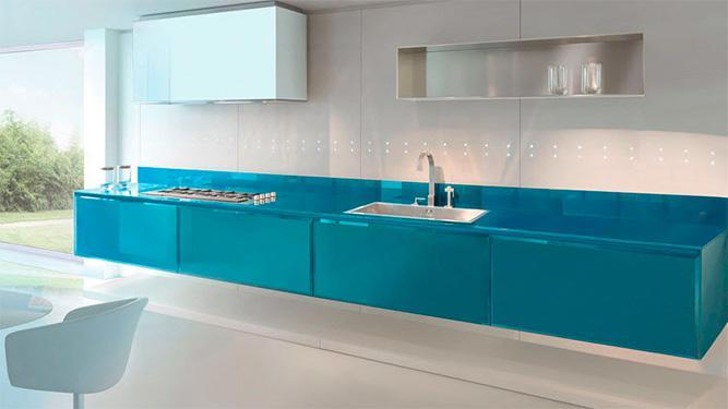Keuken achterwand glas door specialisten dullcon meesters in glas - Glazen kamer bad ...