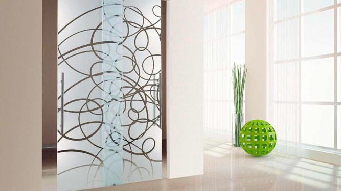 Keuken Deur Folie : Folie of zandstralen op uw glazen deur – DullCon Meesters in glas